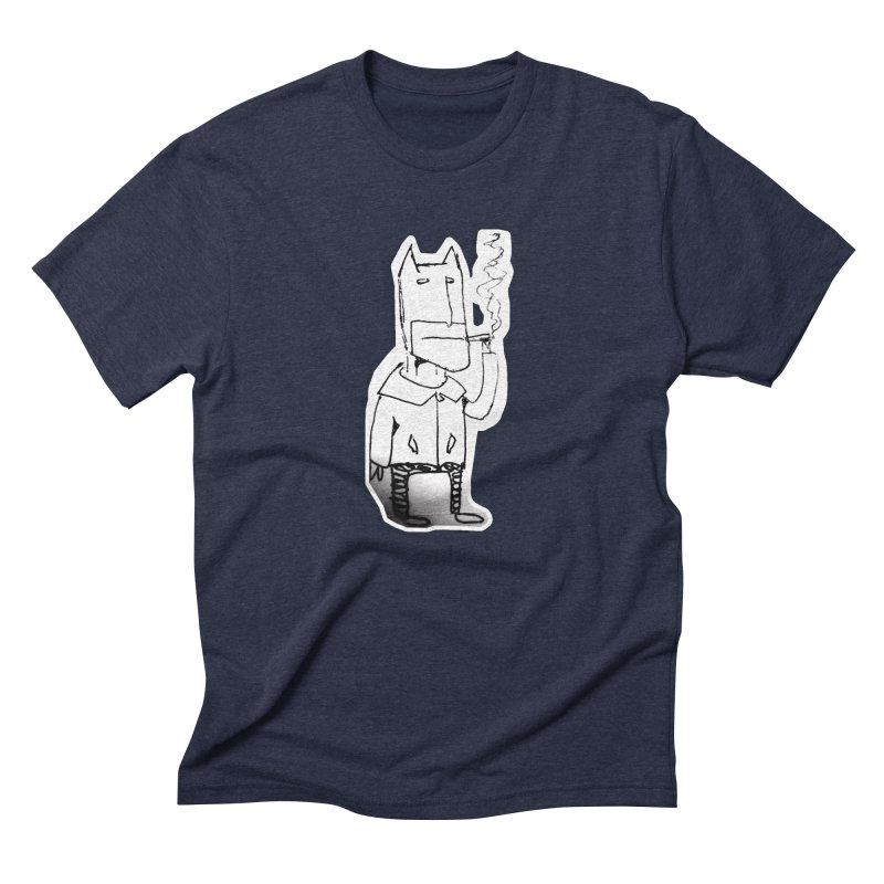 Batman Smoking Men's Triblend T-Shirt by Turkeylegsray's Artist Shop