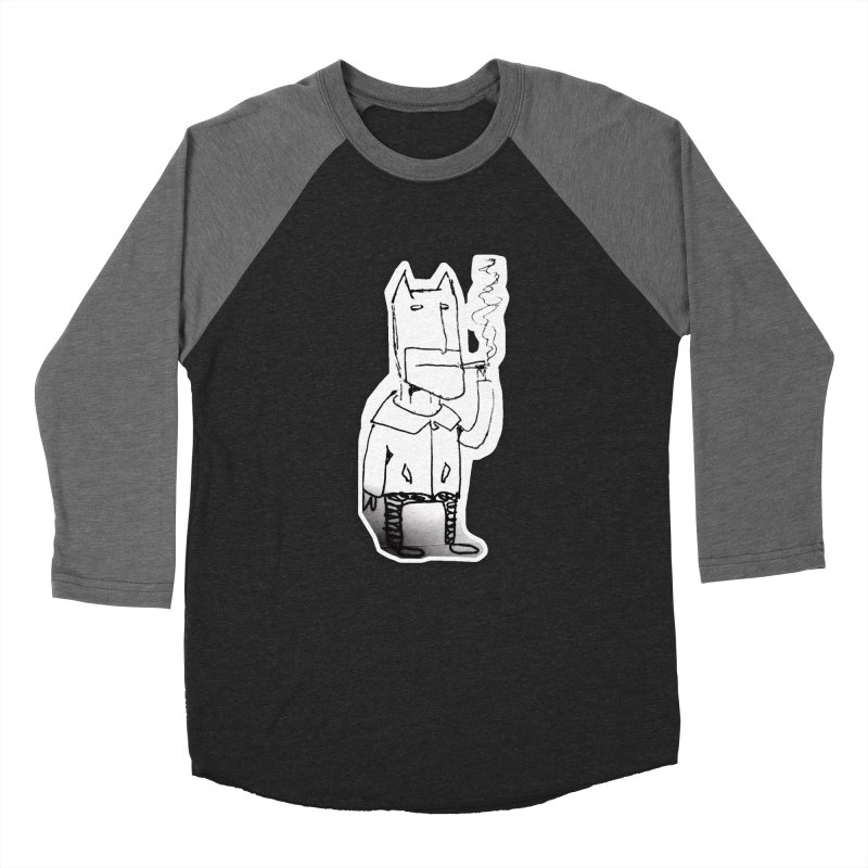 Batman Smoking Men's Baseball Triblend Longsleeve T-Shirt by Turkeylegsray's Artist Shop