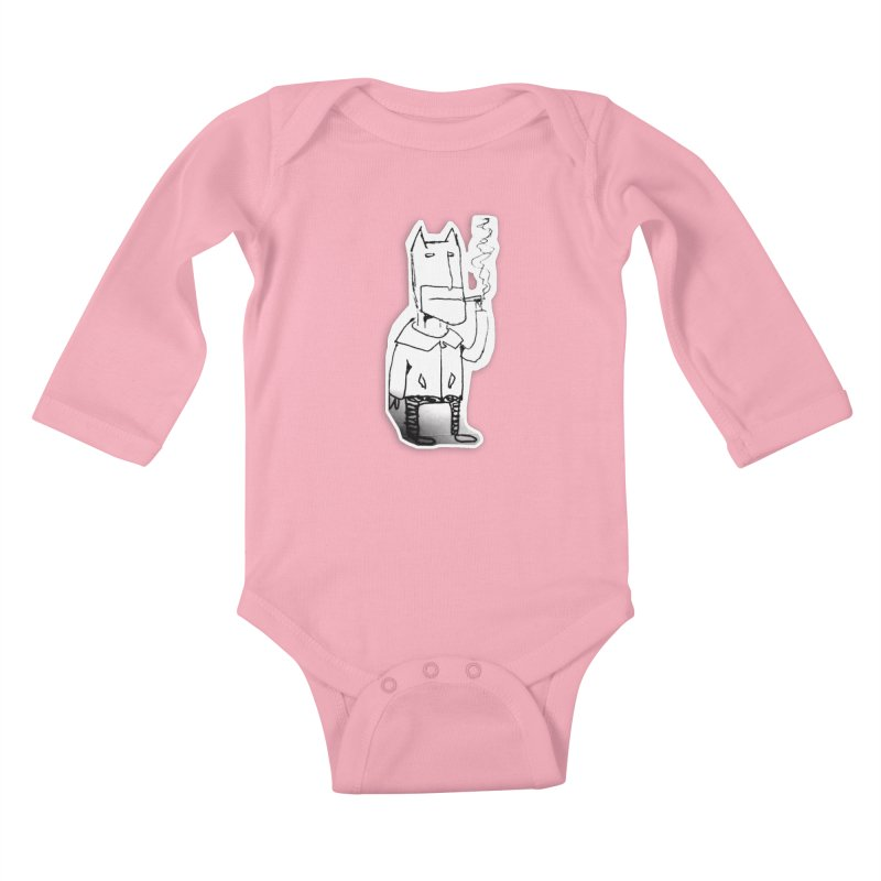 Batman Smoking Kids Baby Longsleeve Bodysuit by Turkeylegsray's Artist Shop