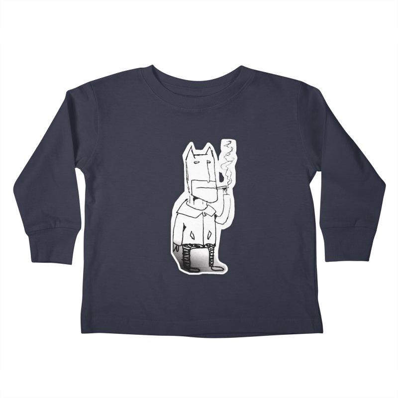 Batman Smoking Kids Toddler Longsleeve T-Shirt by Turkeylegsray's Artist Shop