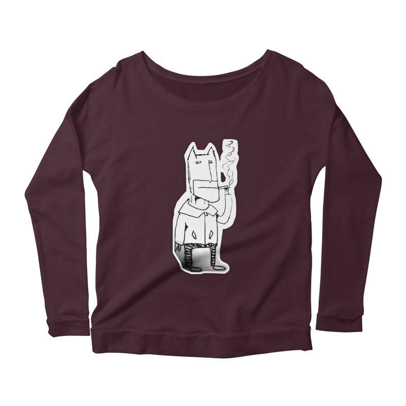 Batman Smoking Women's Scoop Neck Longsleeve T-Shirt by Turkeylegsray's Artist Shop