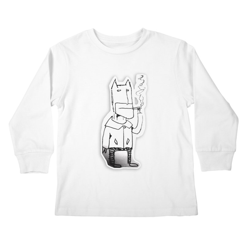Batman Smoking Kids Longsleeve T-Shirt by Turkeylegsray's Artist Shop