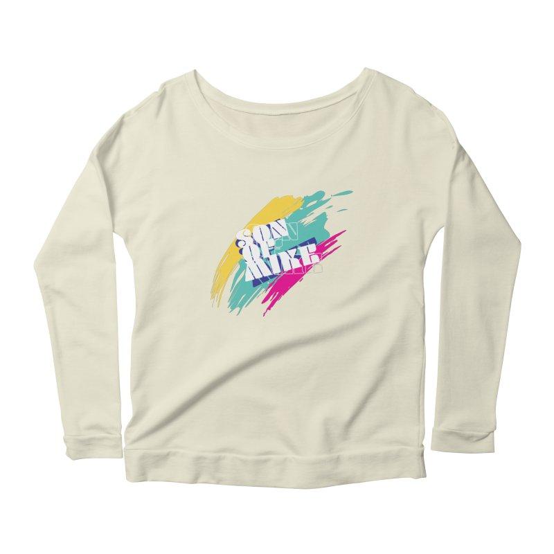 "Son of Mike ""Paint"" Women's Scoop Neck Longsleeve T-Shirt by Turkeylegsray's Artist Shop"