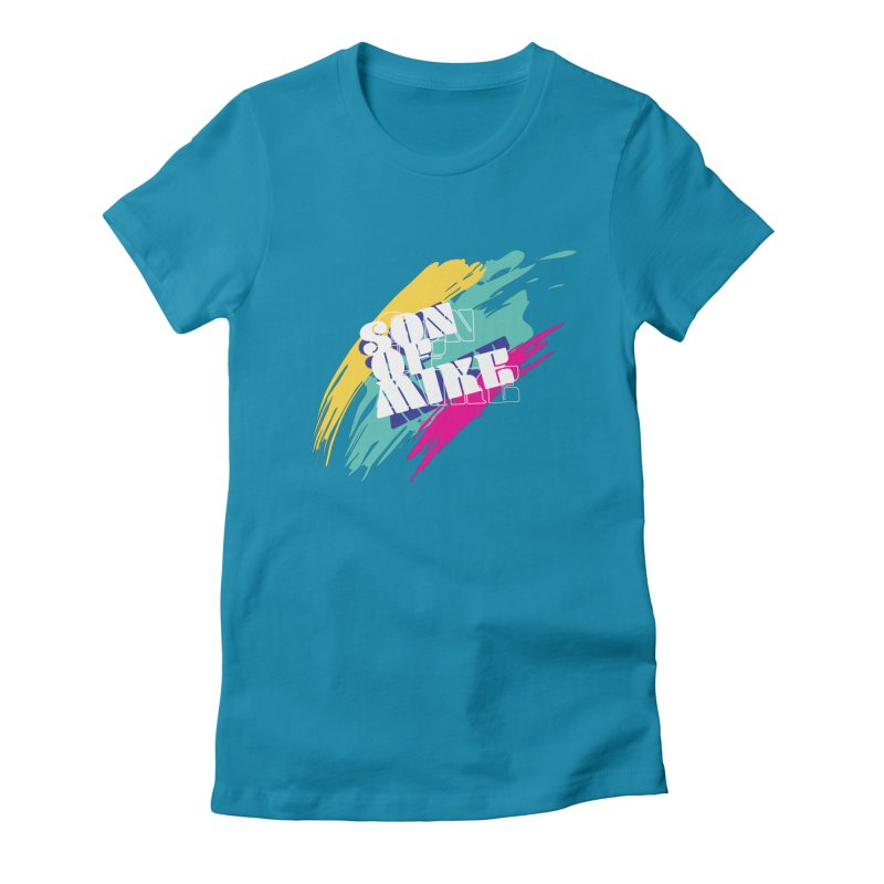"""Son of Mike """"Paint"""" Women's Fitted T-Shirt by Turkeylegsray's Artist Shop"""