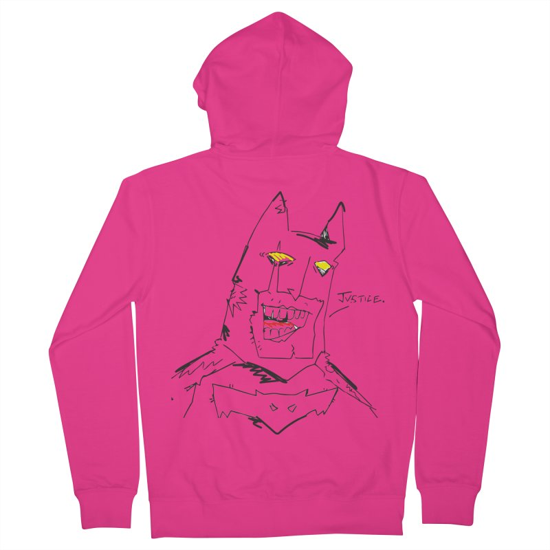 JUSTICE. Men's French Terry Zip-Up Hoody by Turkeylegsray's Artist Shop