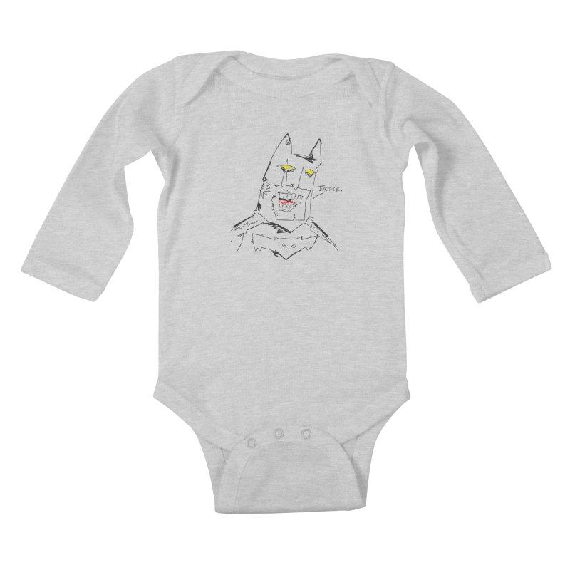 JUSTICE. Kids Baby Longsleeve Bodysuit by Turkeylegsray's Artist Shop