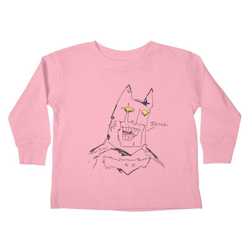 JUSTICE. Kids Toddler Longsleeve T-Shirt by Turkeylegsray's Artist Shop