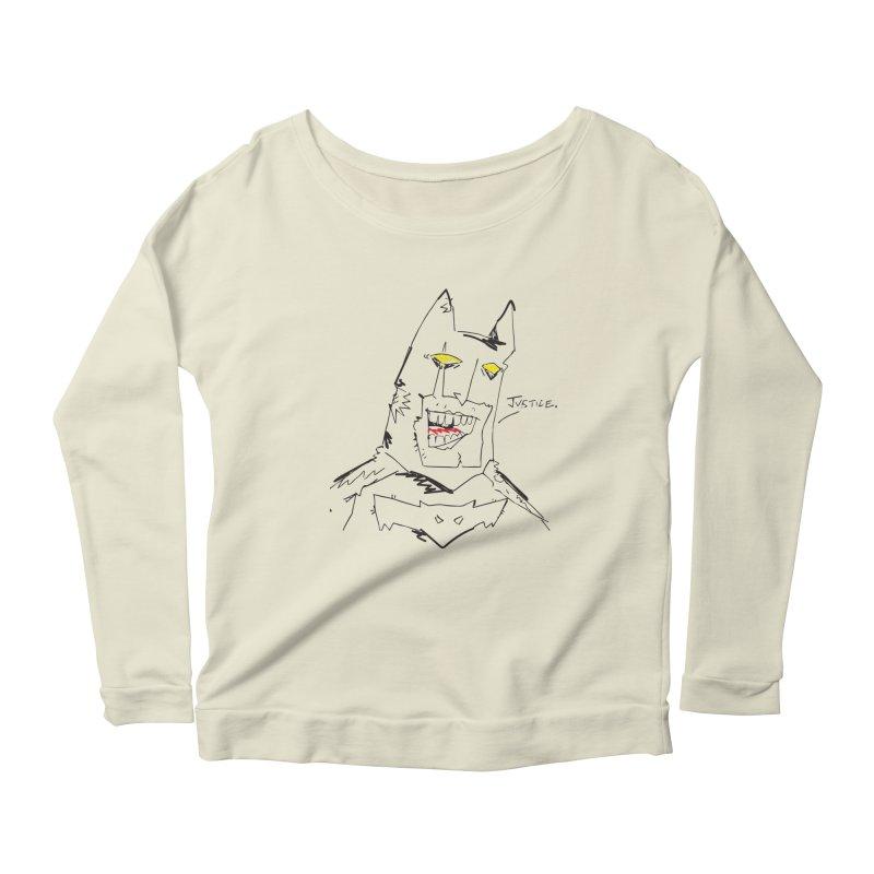 JUSTICE. Women's Scoop Neck Longsleeve T-Shirt by Turkeylegsray's Artist Shop