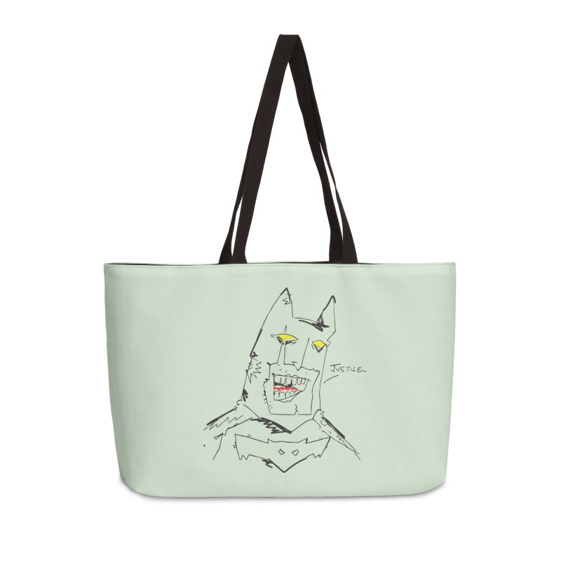 JUSTICE. Accessories Weekender Bag Bag by Turkeylegsray's Artist Shop