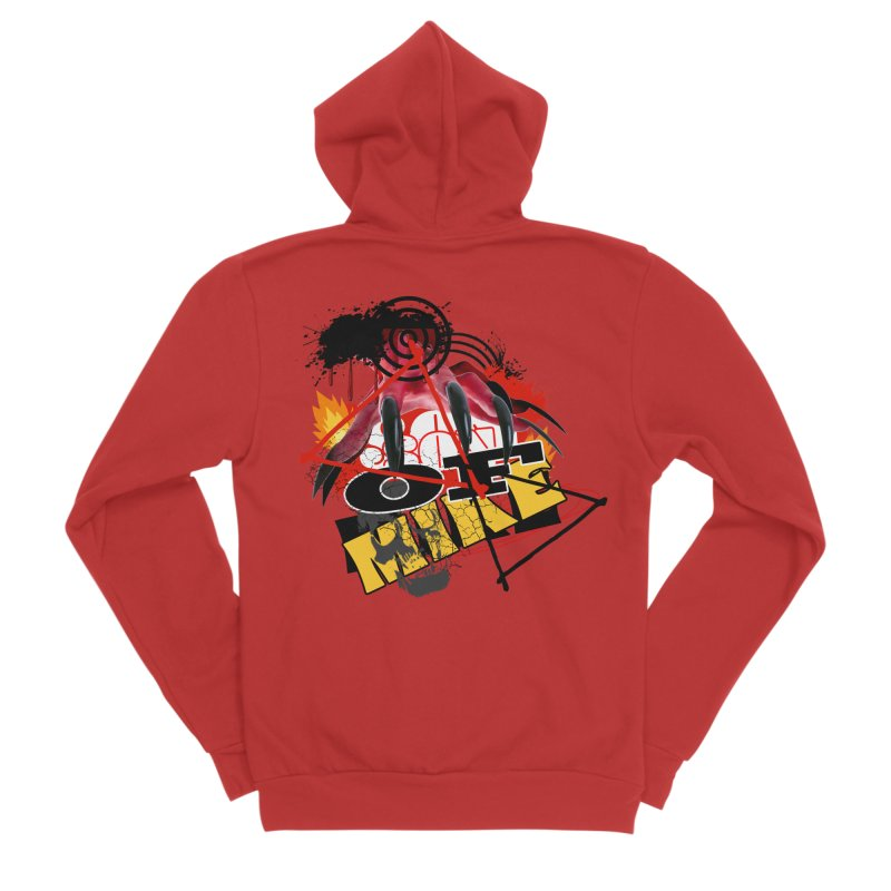 """SON OF MIKE """"Flames"""" Women's Sponge Fleece Zip-Up Hoody by Turkeylegsray's Artist Shop"""