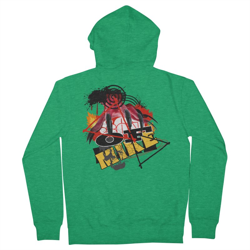 """SON OF MIKE """"Flames"""" Women's French Terry Zip-Up Hoody by Turkeylegsray's Artist Shop"""