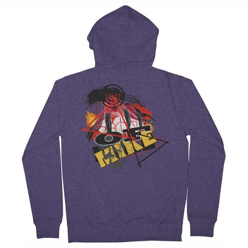 "SON OF MIKE ""Flames"" Men's French Terry Zip-Up Hoody by Turkeylegsray's Artist Shop"