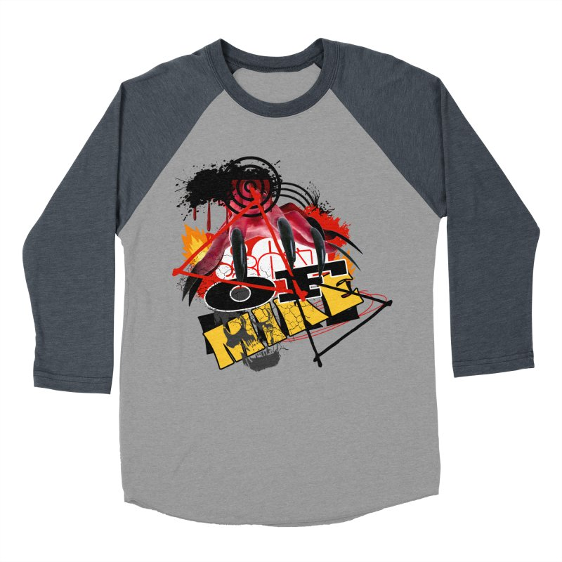 "SON OF MIKE ""Flames"" Men's Baseball Triblend Longsleeve T-Shirt by Turkeylegsray's Artist Shop"