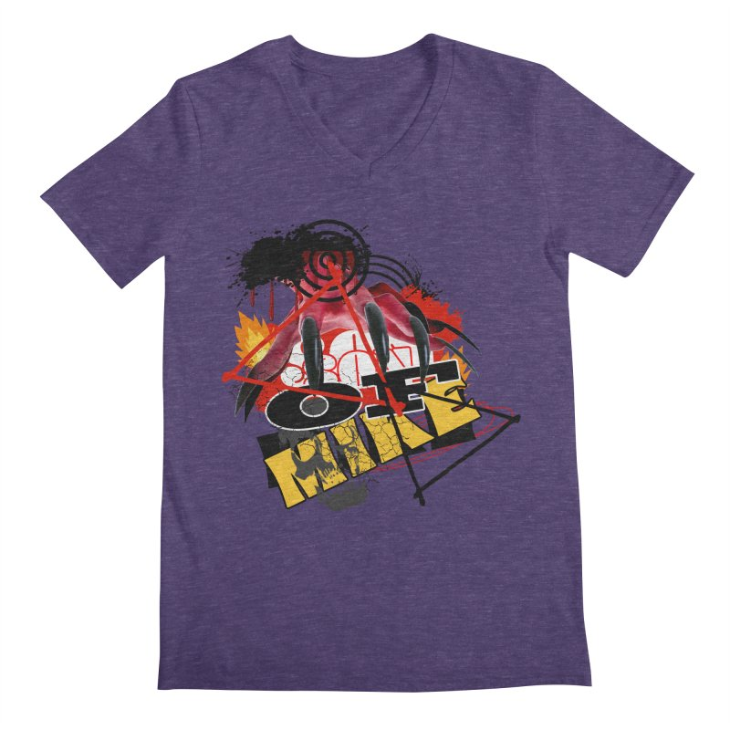 "SON OF MIKE ""Flames"" Men's Regular V-Neck by Turkeylegsray's Artist Shop"