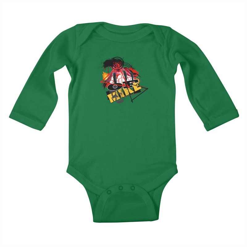 "SON OF MIKE ""Flames"" Kids Baby Longsleeve Bodysuit by Turkeylegsray's Artist Shop"