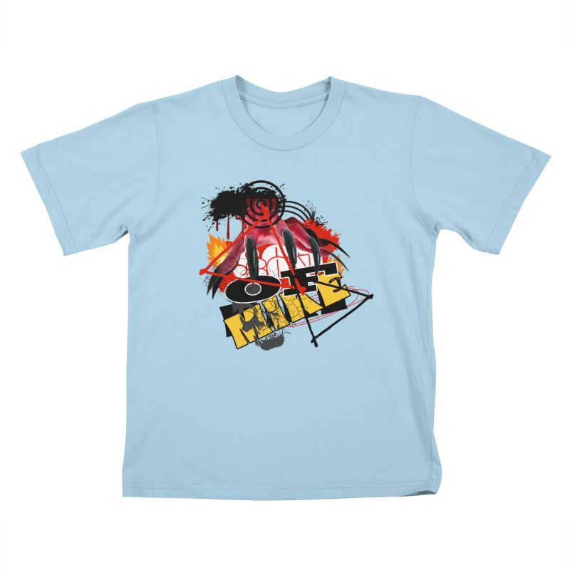 "SON OF MIKE ""Flames"" Kids T-Shirt by Turkeylegsray's Artist Shop"