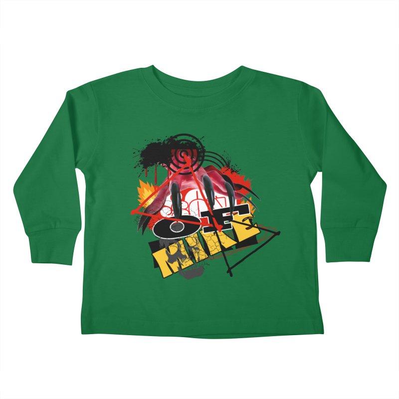 "SON OF MIKE ""Flames"" Kids Toddler Longsleeve T-Shirt by Turkeylegsray's Artist Shop"