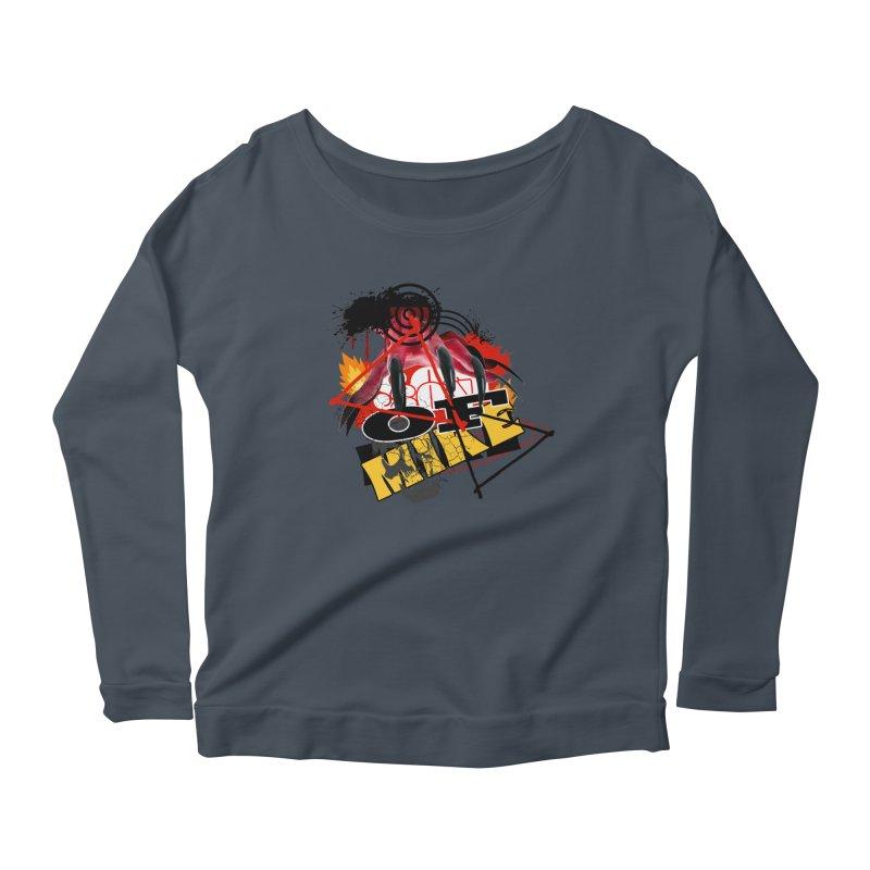 "SON OF MIKE ""Flames"" Women's Scoop Neck Longsleeve T-Shirt by Turkeylegsray's Artist Shop"