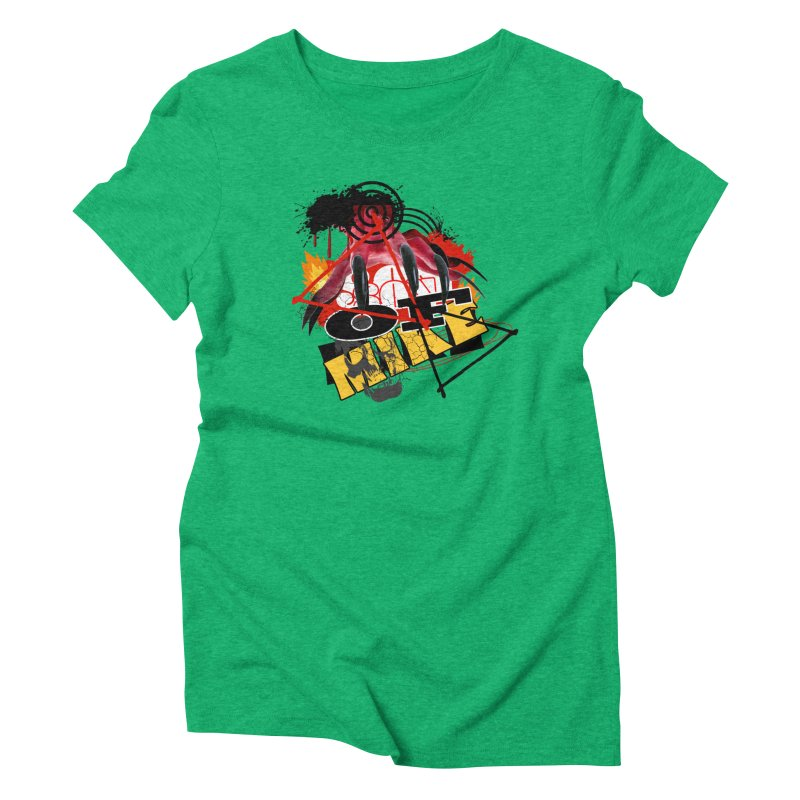 """SON OF MIKE """"Flames"""" Women's Triblend T-Shirt by Turkeylegsray's Artist Shop"""