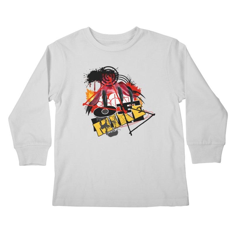 "SON OF MIKE ""Flames"" Kids Longsleeve T-Shirt by Turkeylegsray's Artist Shop"