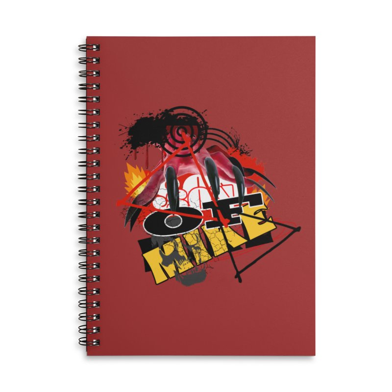 """SON OF MIKE """"Flames"""" Accessories Lined Spiral Notebook by Turkeylegsray's Artist Shop"""