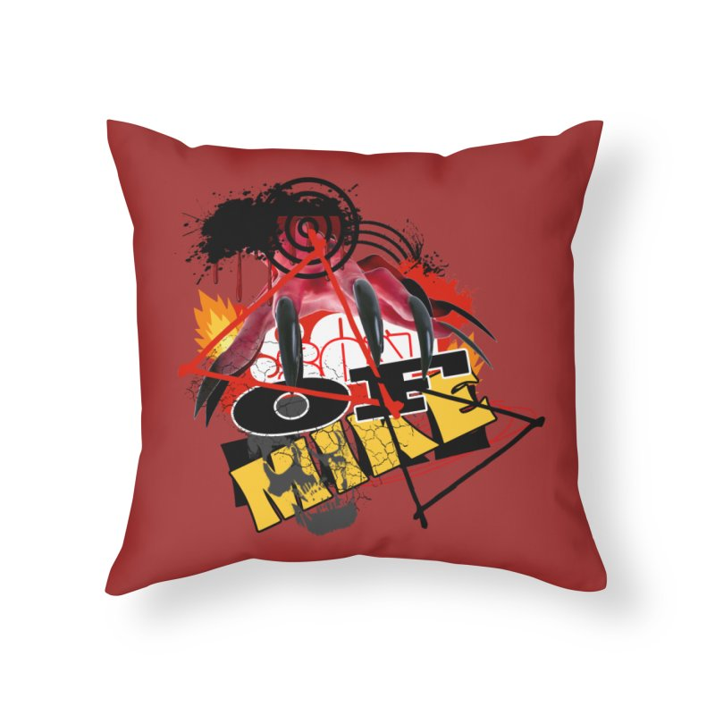 "SON OF MIKE ""Flames"" Home Throw Pillow by Turkeylegsray's Artist Shop"