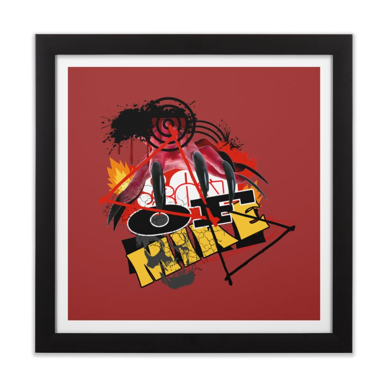 """SON OF MIKE """"Flames"""" Home Framed Fine Art Print by Turkeylegsray's Artist Shop"""