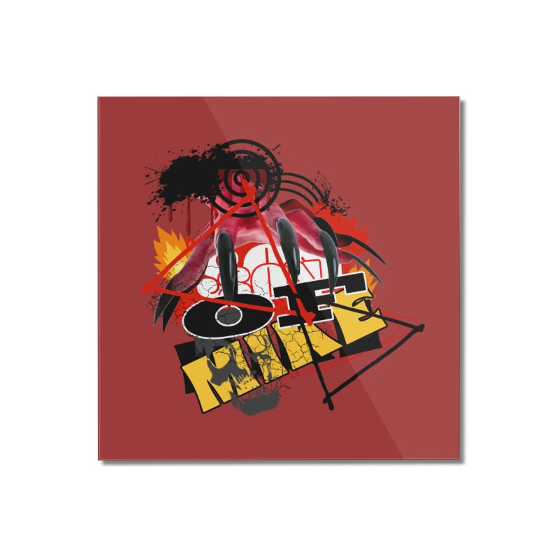 "SON OF MIKE ""Flames"" Home Mounted Acrylic Print by Turkeylegsray's Artist Shop"