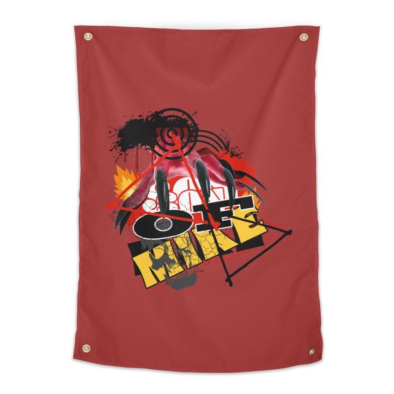 "SON OF MIKE ""Flames"" Home Tapestry by Turkeylegsray's Artist Shop"