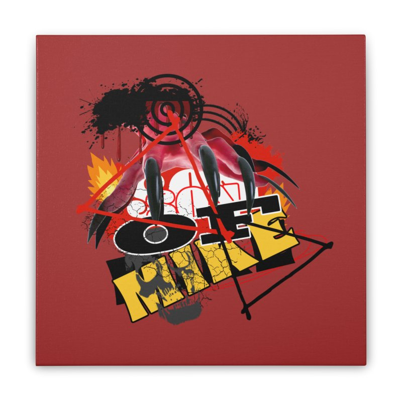 "SON OF MIKE ""Flames"" Home Stretched Canvas by Turkeylegsray's Artist Shop"