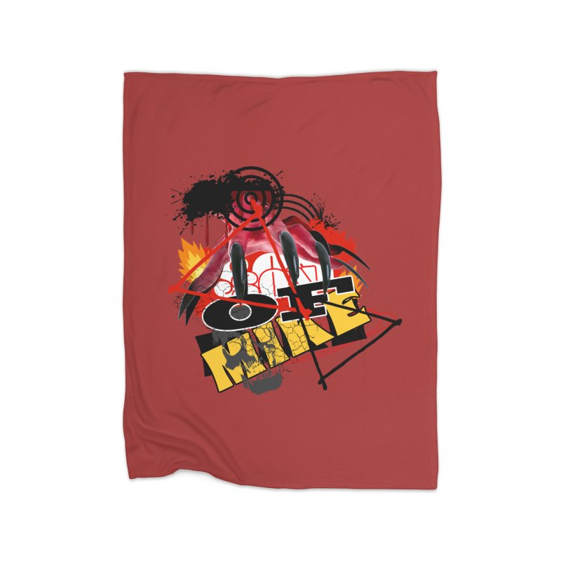 "SON OF MIKE ""Flames"" Home Fleece Blanket Blanket by Turkeylegsray's Artist Shop"