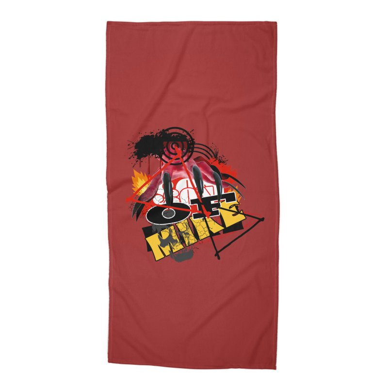 """SON OF MIKE """"Flames"""" Accessories Beach Towel by Turkeylegsray's Artist Shop"""