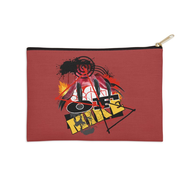 """SON OF MIKE """"Flames"""" Accessories Zip Pouch by Turkeylegsray's Artist Shop"""