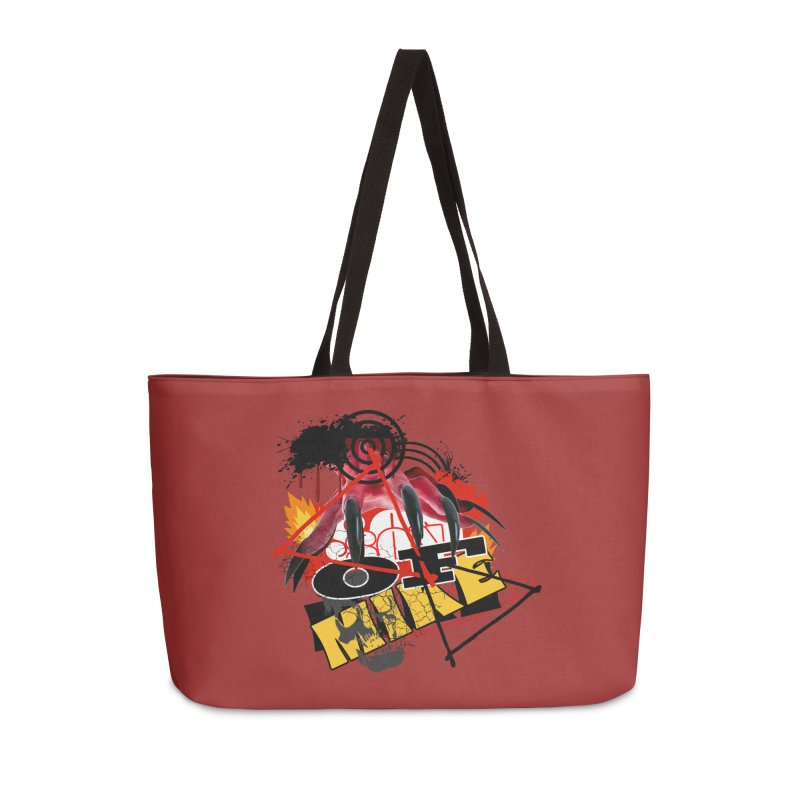"SON OF MIKE ""Flames"" Accessories Weekender Bag Bag by Turkeylegsray's Artist Shop"