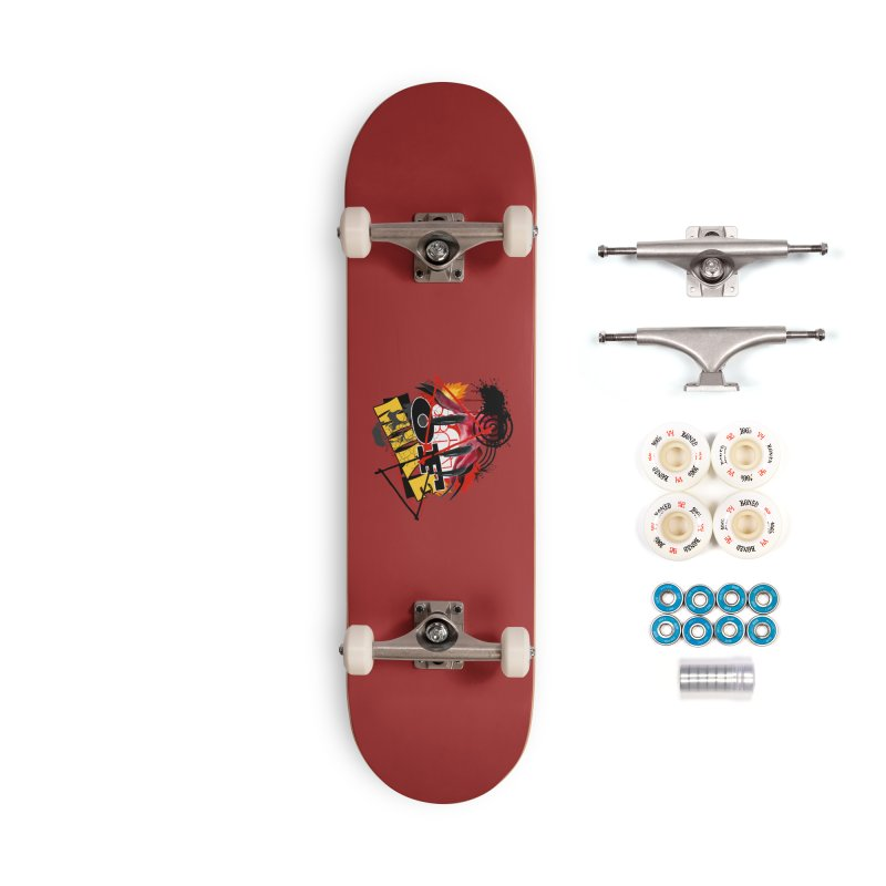 """SON OF MIKE """"Flames"""" Accessories Complete - Premium Skateboard by Turkeylegsray's Artist Shop"""