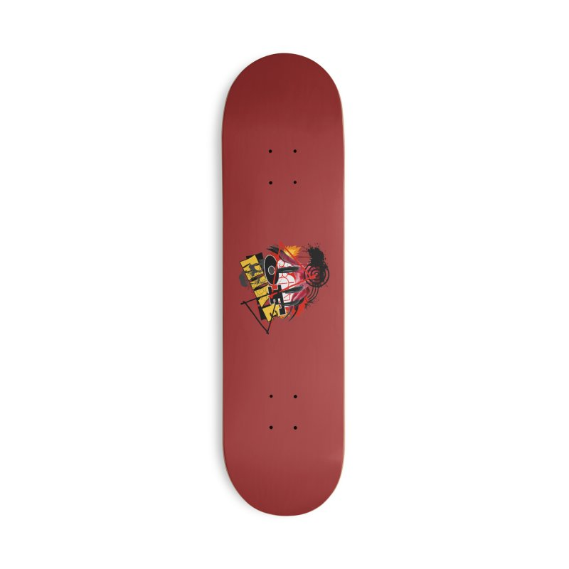 """SON OF MIKE """"Flames"""" Accessories Deck Only Skateboard by Turkeylegsray's Artist Shop"""