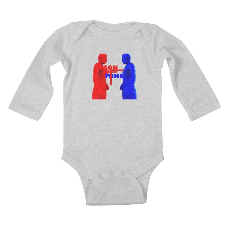 "SON OF MIKE ""Boxers"" Kids Baby Longsleeve Bodysuit by Turkeylegsray's Artist Shop"