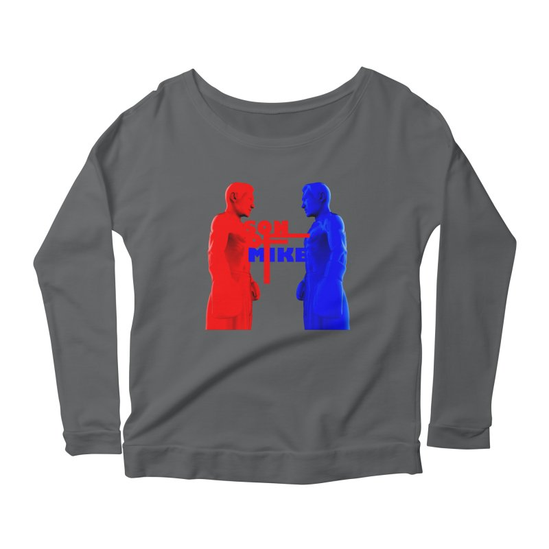 "SON OF MIKE ""Boxers"" Women's Scoop Neck Longsleeve T-Shirt by Turkeylegsray's Artist Shop"
