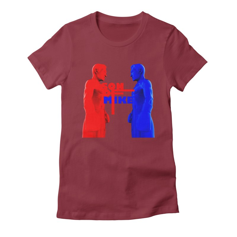 """SON OF MIKE """"Boxers"""" Women's Fitted T-Shirt by Turkeylegsray's Artist Shop"""