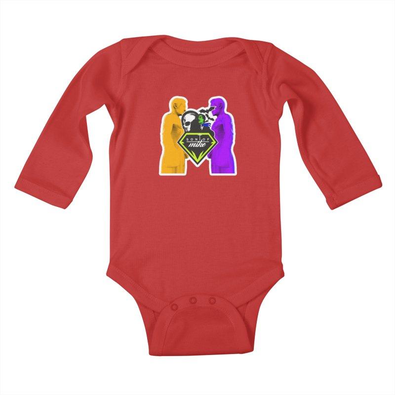 "SON OF MIKE ""Boxers II"" Kids Baby Longsleeve Bodysuit by Turkeylegsray's Artist Shop"