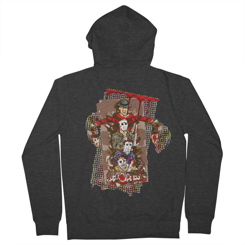 SLASHERS! Men's French Terry Zip-Up Hoody by Turkeylegsray's Artist Shop