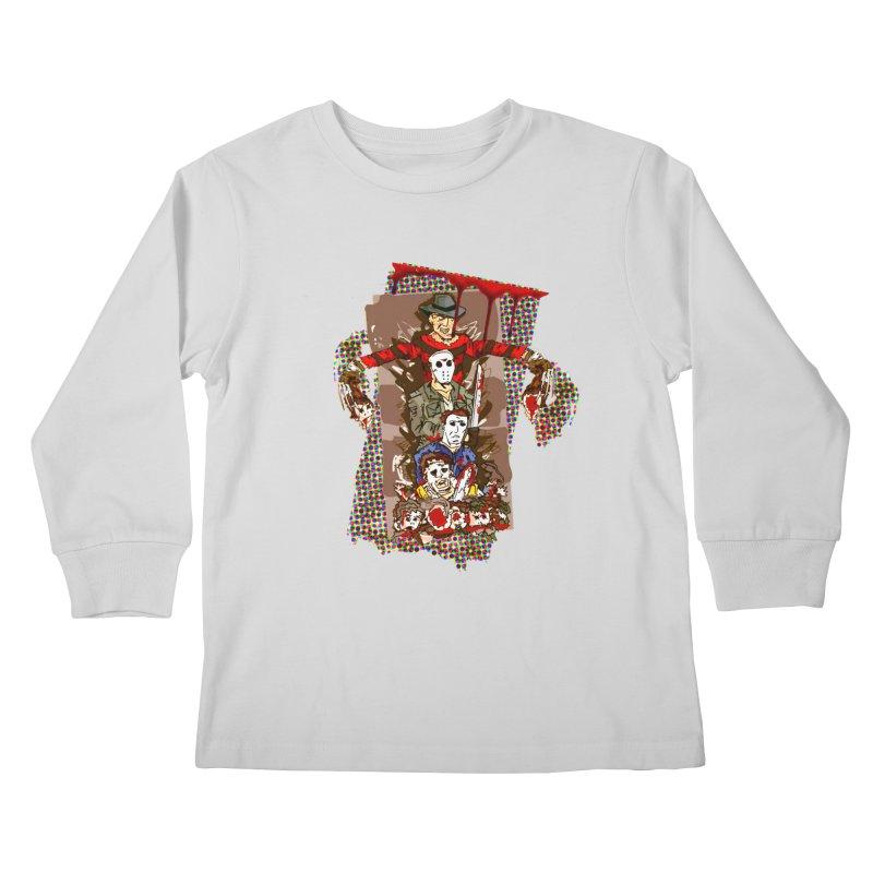 SLASHERS! Kids Longsleeve T-Shirt by Turkeylegsray's Artist Shop