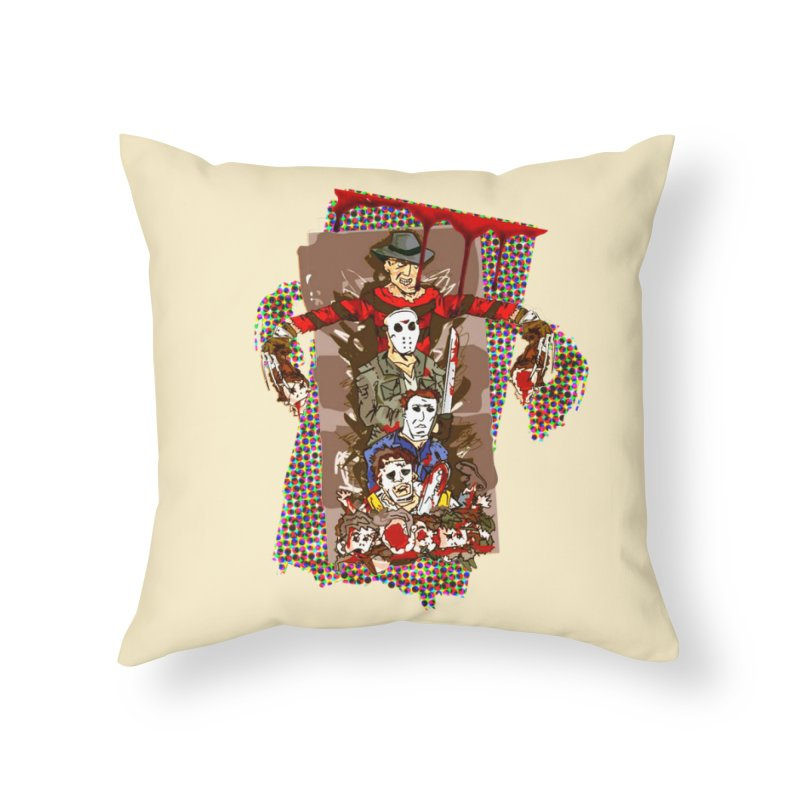 SLASHERS! Home Throw Pillow by Turkeylegsray's Artist Shop