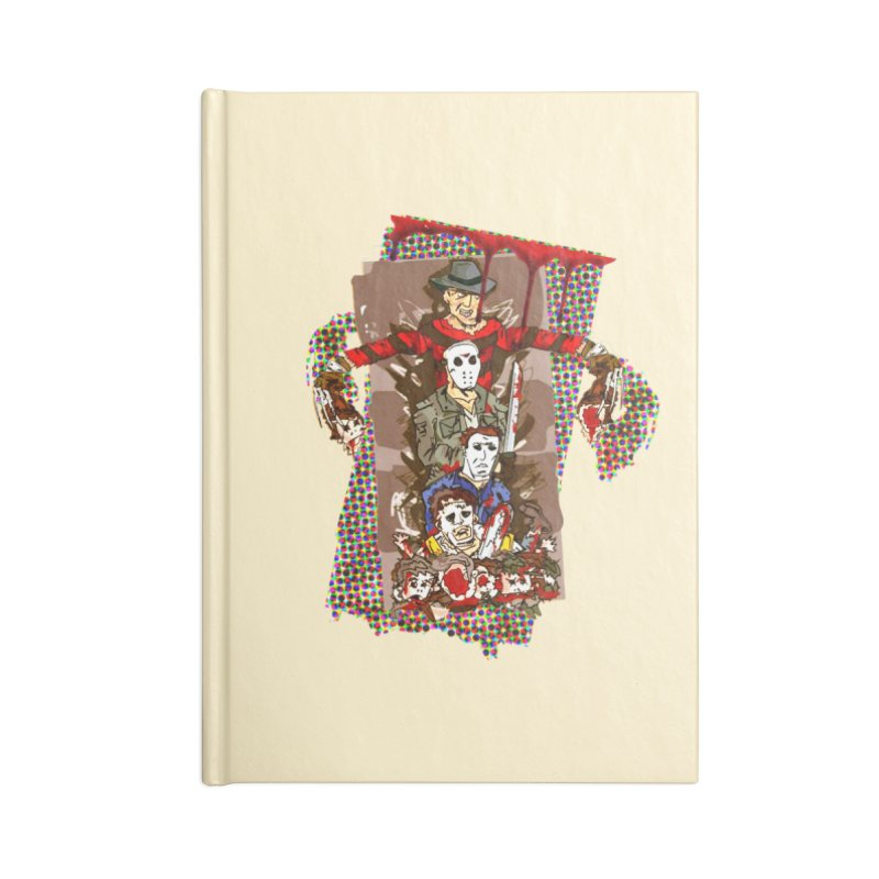 SLASHERS! Accessories Lined Journal Notebook by Turkeylegsray's Artist Shop