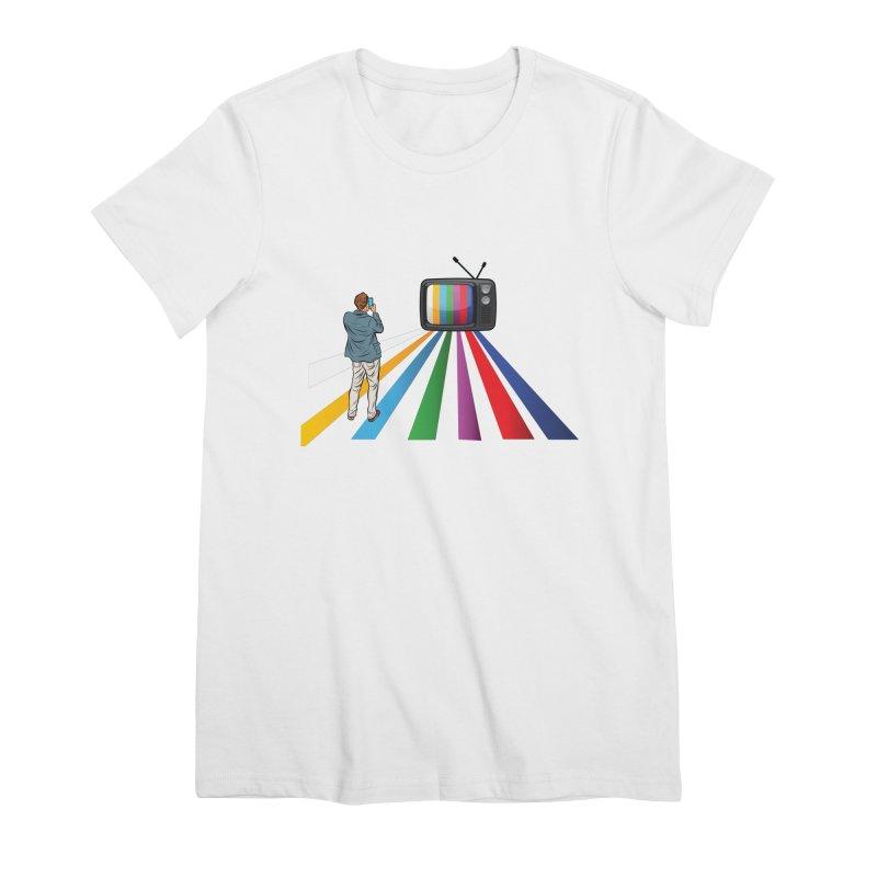 TELEVISION Women's Premium T-Shirt by Turkeylegsray's Artist Shop