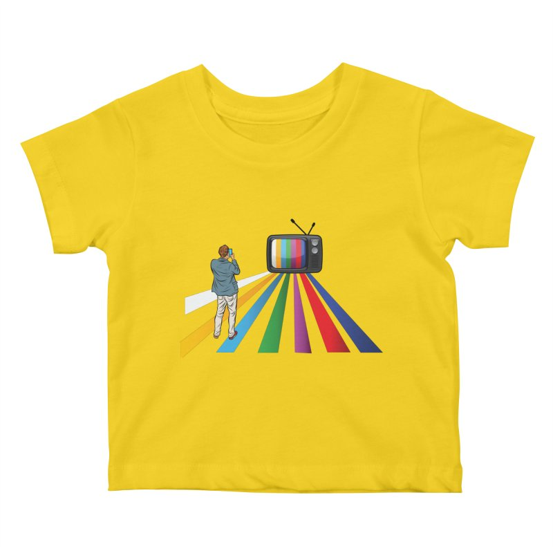 TELEVISION Kids Baby T-Shirt by Turkeylegsray's Artist Shop