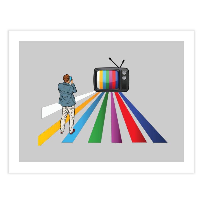 TELEVISION Home Fine Art Print by Turkeylegsray's Artist Shop