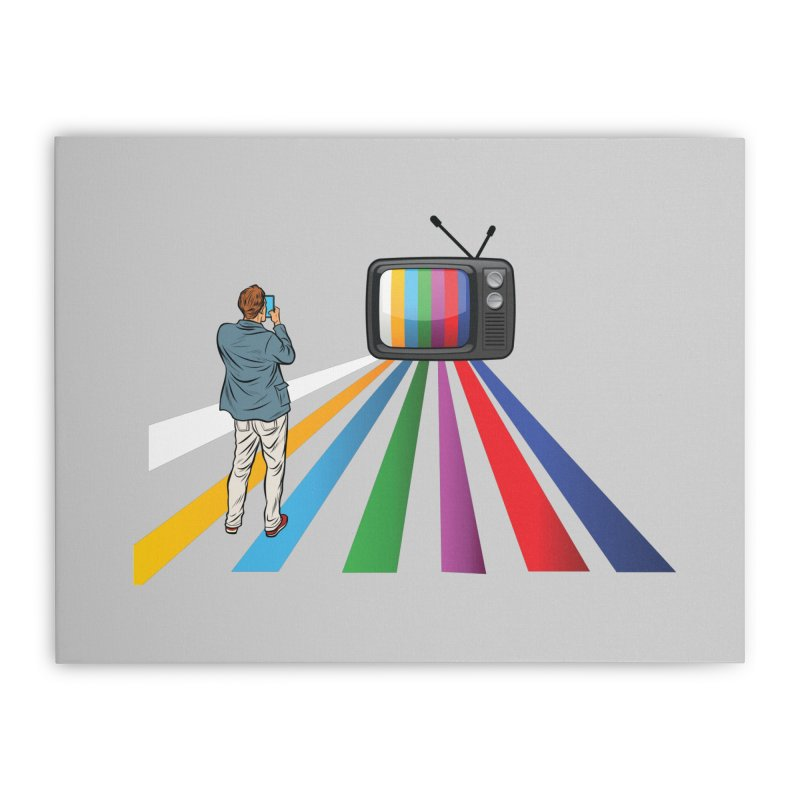 TELEVISION Home Stretched Canvas by Turkeylegsray's Artist Shop
