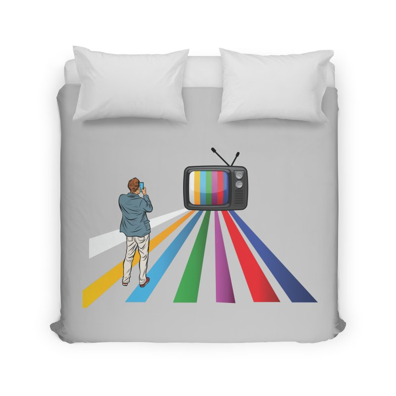 TELEVISION Home Duvet by Turkeylegsray's Artist Shop
