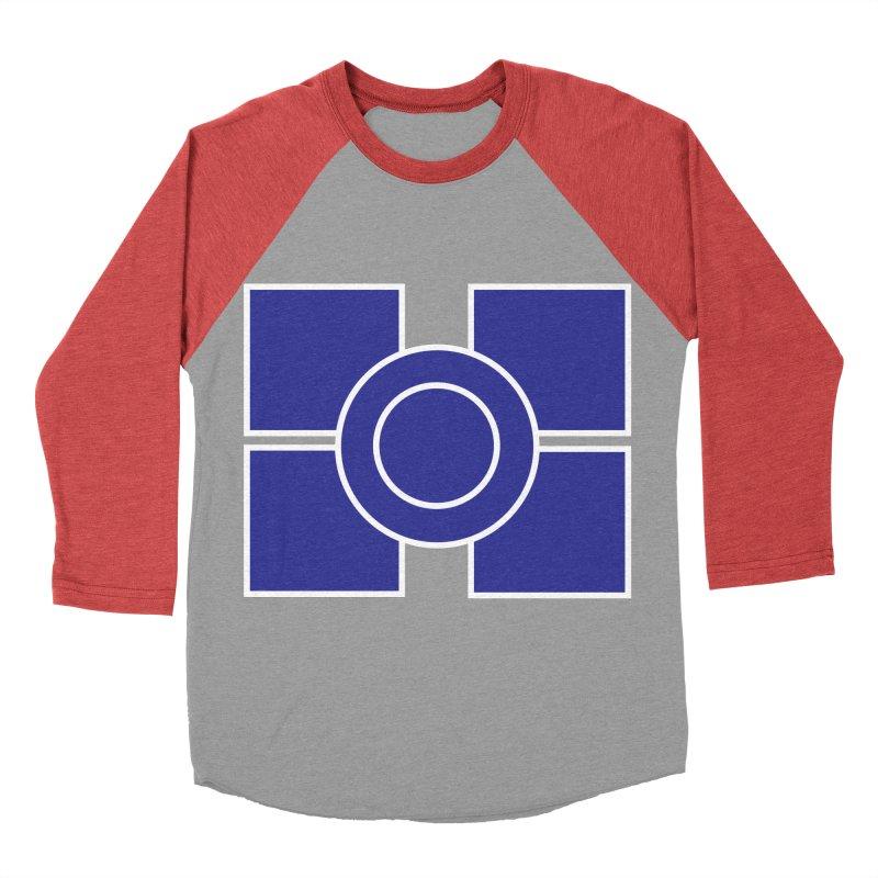 Squares and Circle Women's Baseball Triblend Longsleeve T-Shirt by Turkeylegsray's Artist Shop